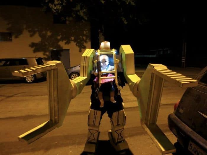 Halloween Costume Ideas For Parents With Baby Carriers work loader