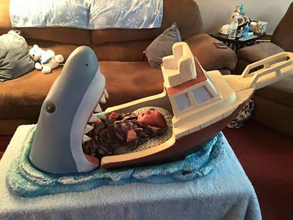 Hilarious Uncles jaws inspired crib