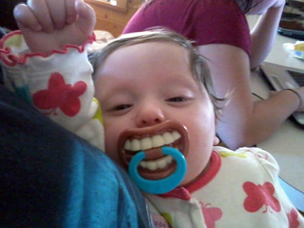 Hilarious Uncles teeth pacifier