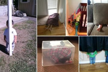 Kids Who Haven't Yet Mastered Hide-And-Seek
