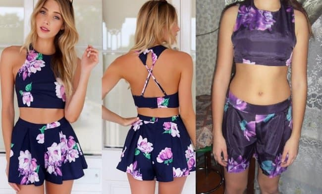 Negative Side Of Online Shopping expected vs reality shorts and top