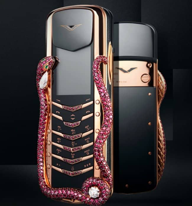 Outrageously Expensive Items cell phone with rubies