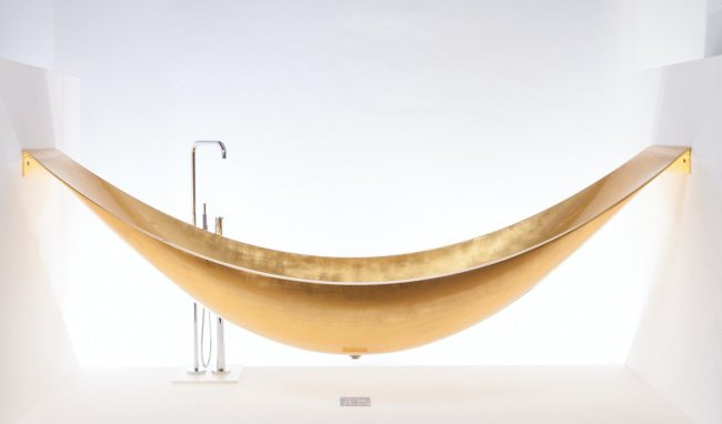Outrageously Expensive Items gilded hammock bathtub