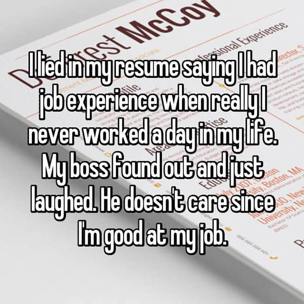 People Who Got Caught Lying On Their Resumes just laughed