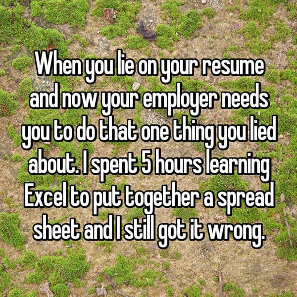 People Who Got Caught Lying On Their Resumes leaning excel