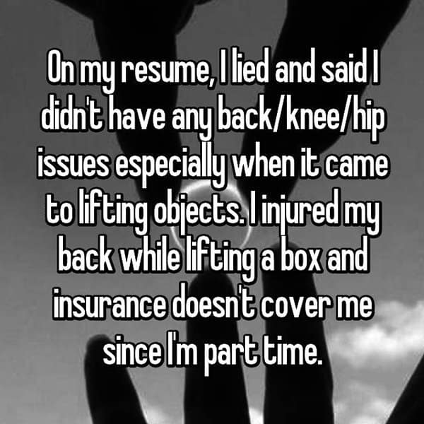 People Who Got Caught Lying On Their Resumes lifting objects