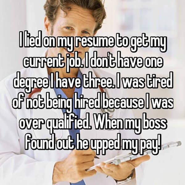 People Who Got Caught Lying On Their Resumes over qualified