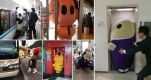 Photos Of Japanese Mascots Getting Stuck