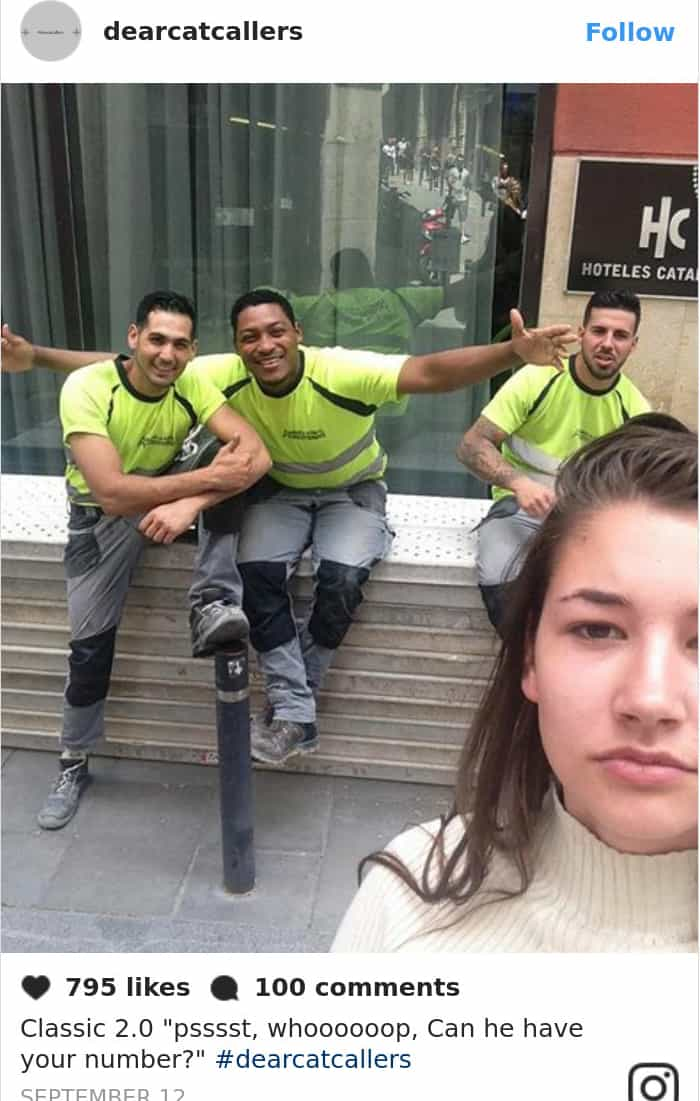 Photos With Her Catcallers can he have your number