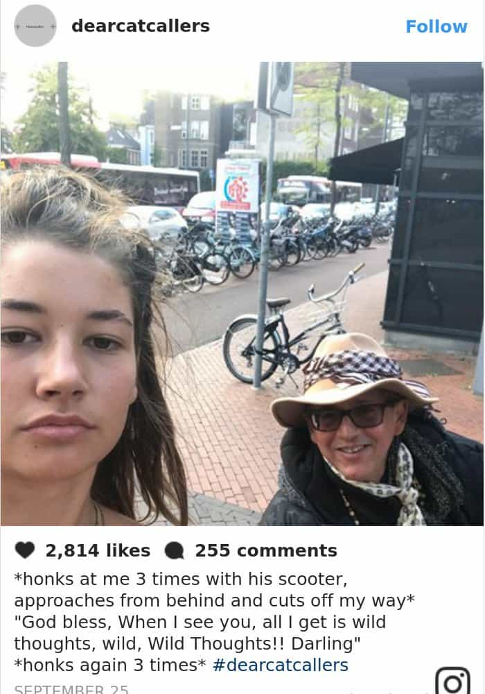 Photos With Her Catcallers honks with scooter