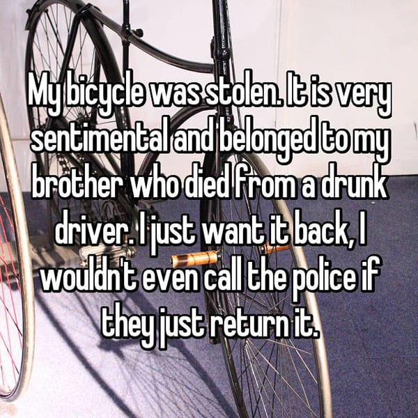 Reveal The Most Priceless Things They Have Lost bicycle
