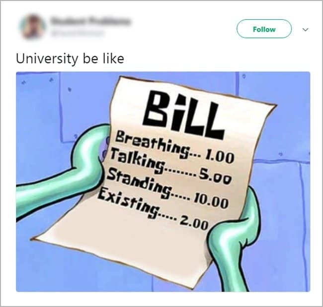 Struggling College Students university be like