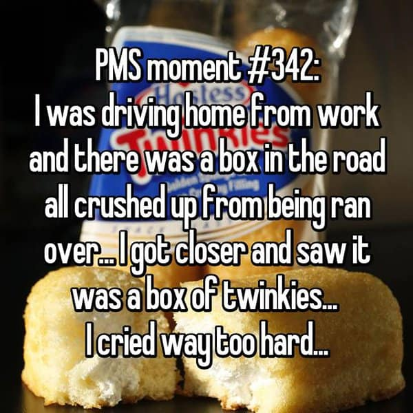 Things Girls Have Cried About Struggling With PMS box of twinkies