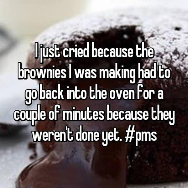 Things Girls Have Cried About Struggling With PMS brownies