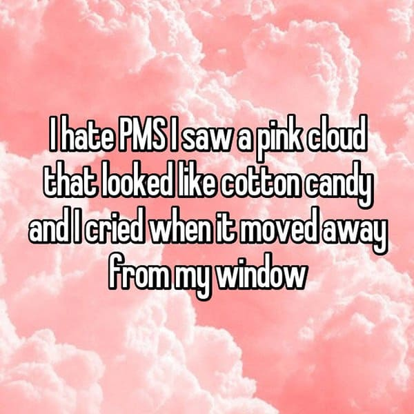 Things Girls Have Cried About Struggling With PMS cotton candy