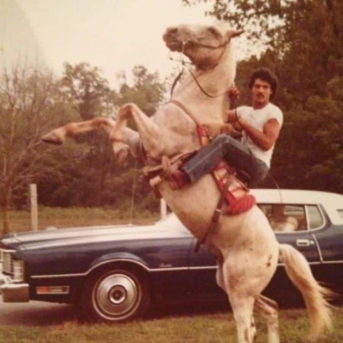 Times Our Parents Were Cooler riding horse