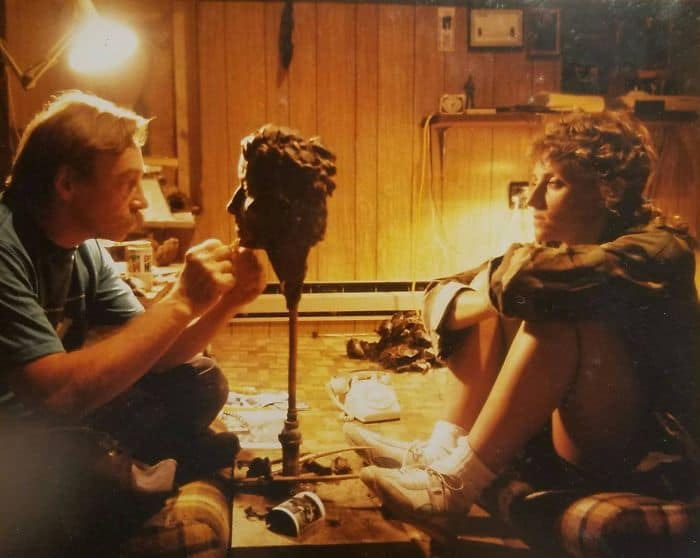 Times Our Parents Were Cooler sculpting a bust