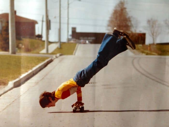 Times Our Parents Were Cooler trick on skateboard