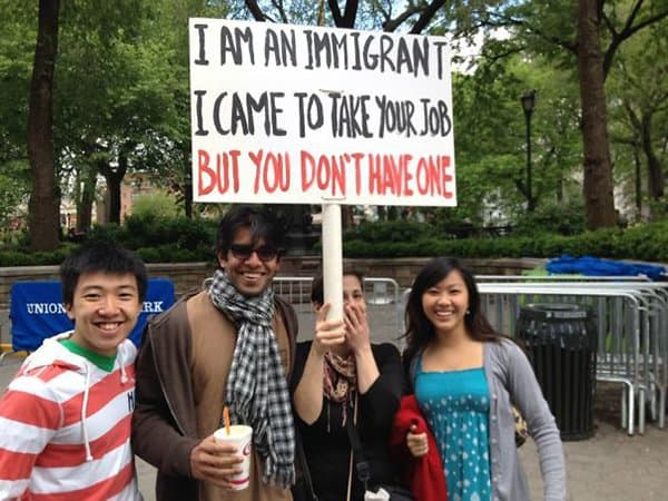 Times People Hilariously Trolled Protesters immigrant