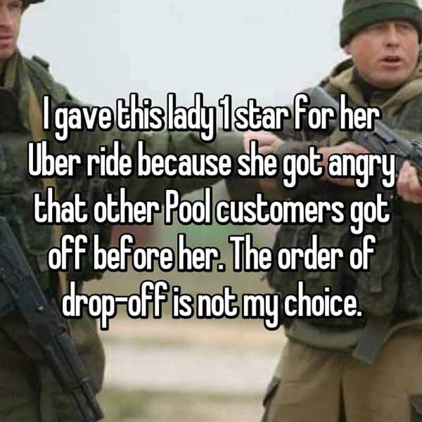 Uber Drivers Reveal The Worst Customers pool customers