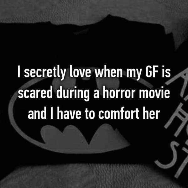 Weird Things Guys Love About Their Girlfriends scared horror movie