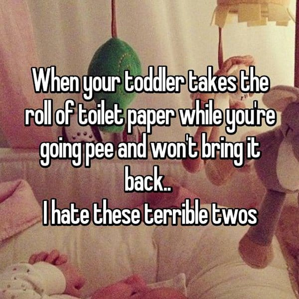 Why The Terrible Twos Are The Worst toilet paper