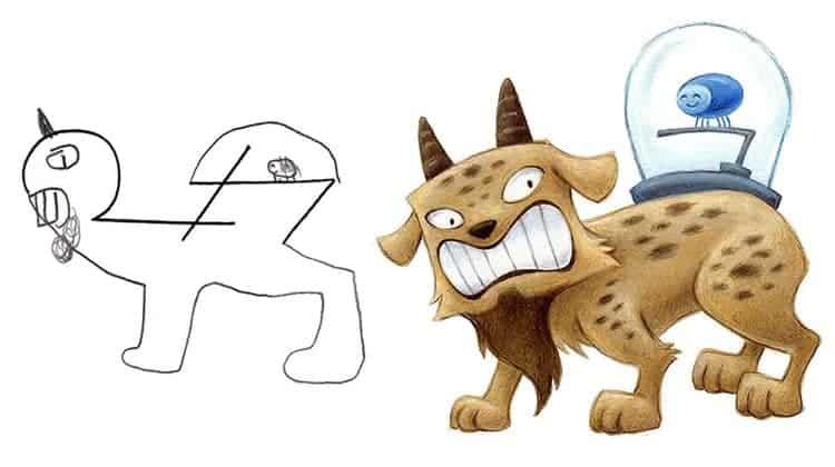 artist-transforms-kids-drawings-monsters
