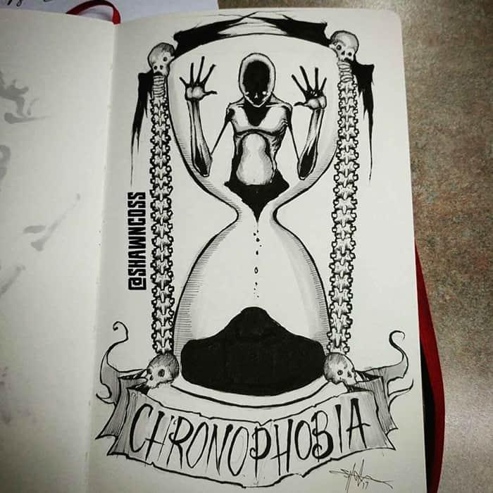 shawn coss Illustrated Phobias chronophobia