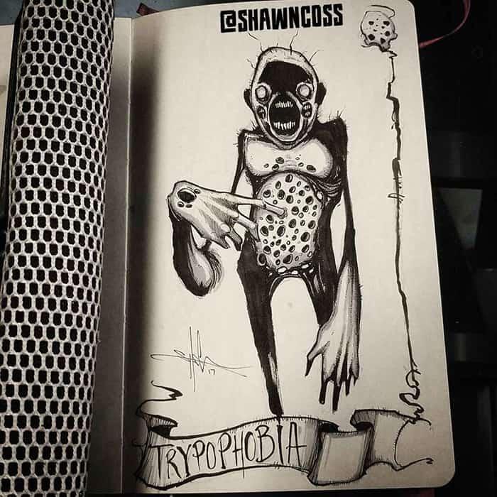 shawn coss Illustrated Phobias trypophobia