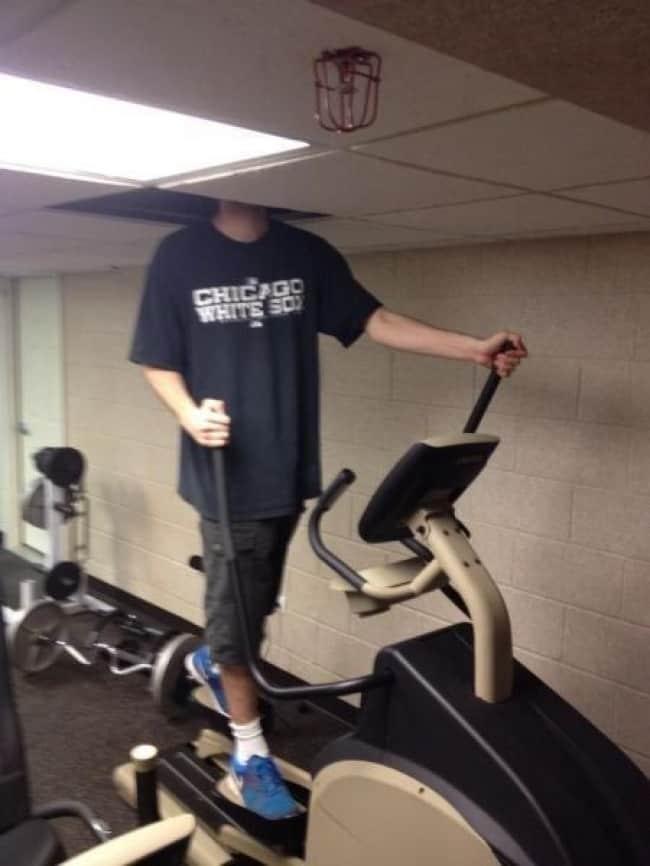 Amusing Photos Tall People gym