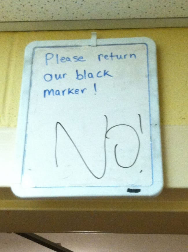 Anarchists Who Do Not Care black marker