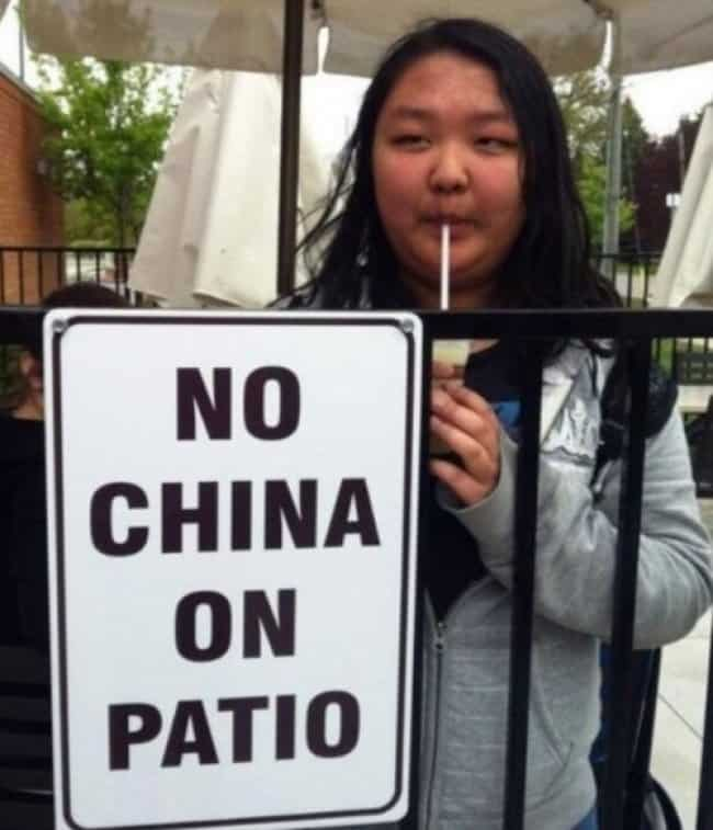 Anarchists Who Do Not Care no china on patio