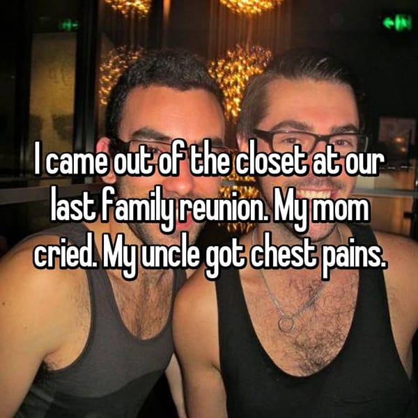 Awkward Things Family Reunions came out of the closet