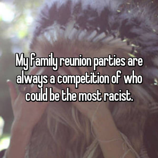 Awkward Things Family Reunions racist