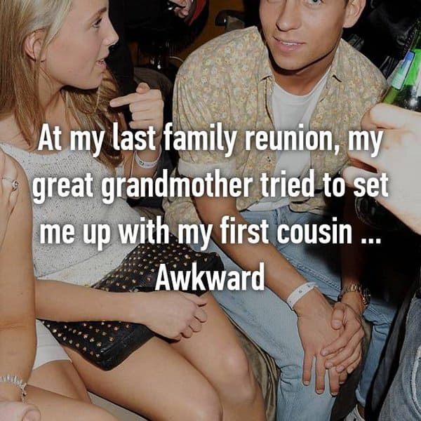 Awkward Things Family Reunions set me up