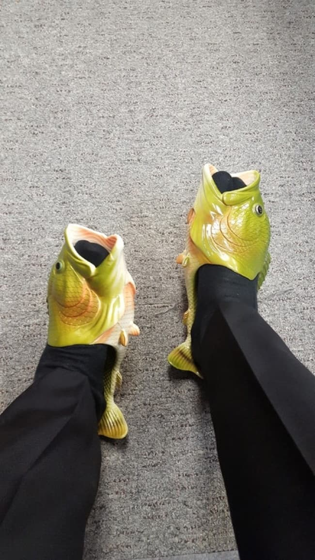 Bizarre Clothing Items fish shoes