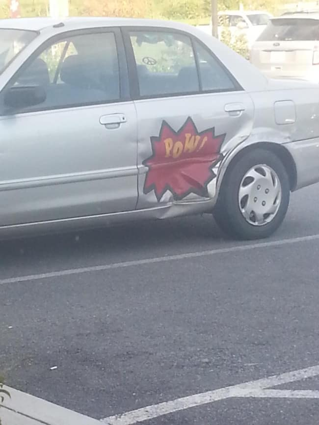 Clever Life Hacks car pow decal