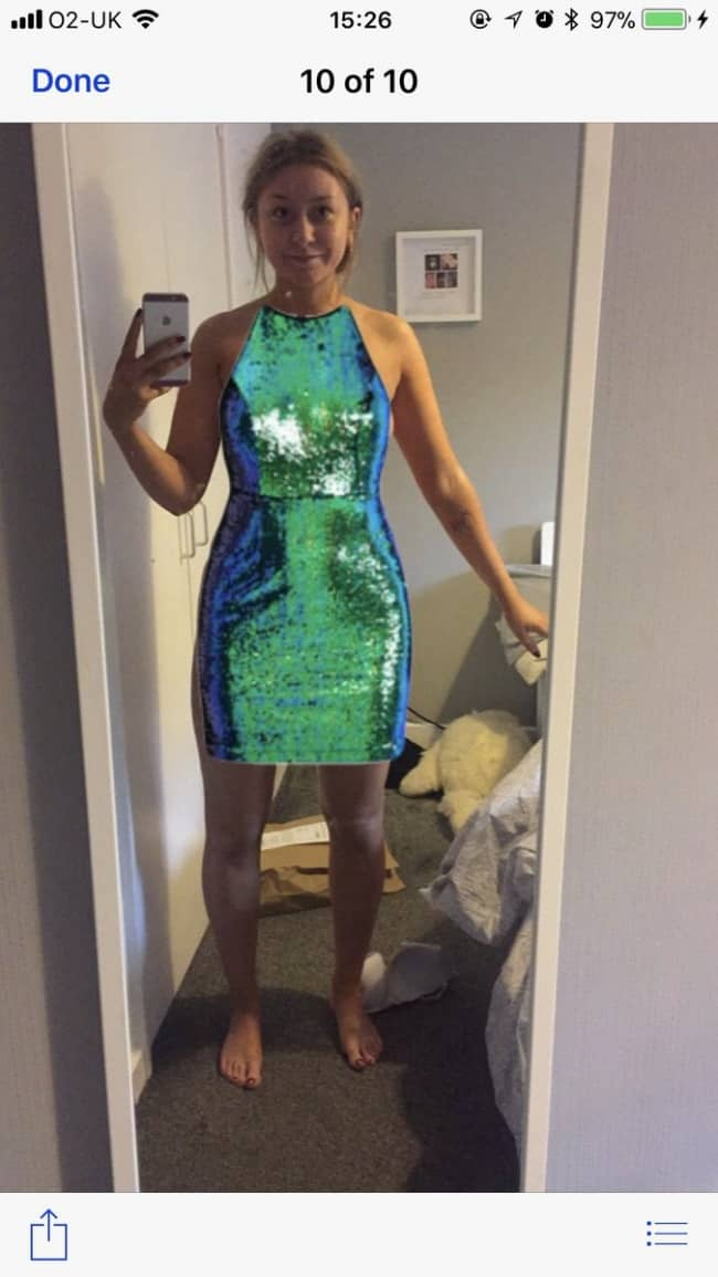 Clever Life Hacks tries on dresses photoshop