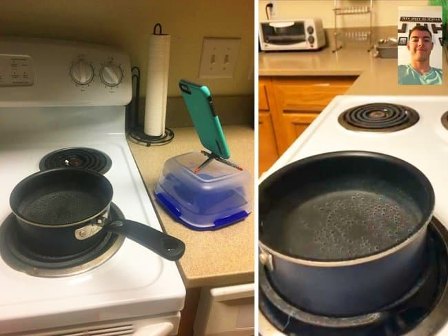 Clever Life Hacks video call boiling water