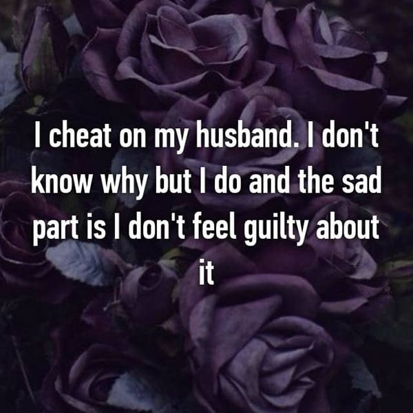 Confessions From Cheating Spouses dont feel guilty