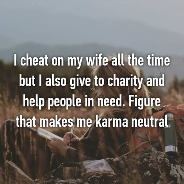 Confessions From Cheating Spouses karma neutral