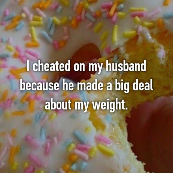 Confessions From Cheating Spouses weight