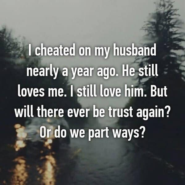 Confessions From Cheating Spouses will there ever be trust