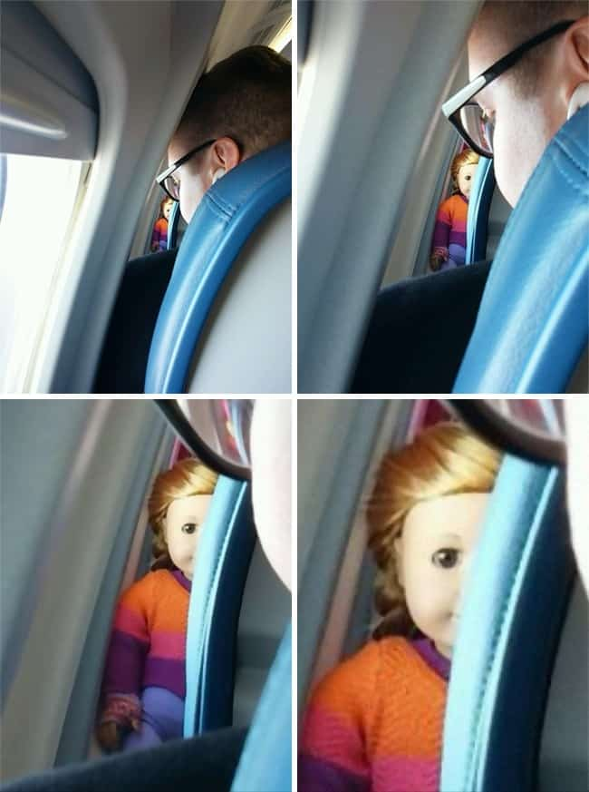 Crazy Things Spotted On Flights doll