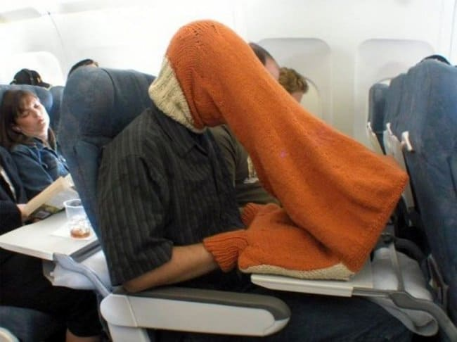 Crazy Things Spotted On Flights head sweater