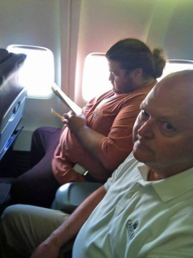 Crazy Things Spotted On Flights hurley lost