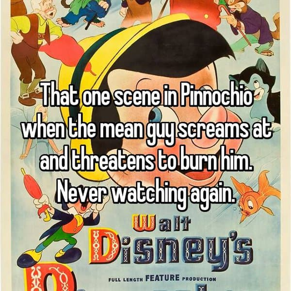 Creepy Things In Disney Movies pinocchio burn him