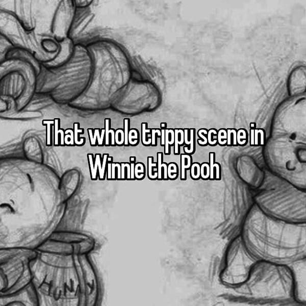 Creepy Things In Disney Movies trippy scene winnie the pooh