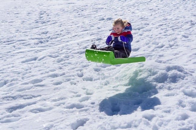 Doing Something For The First Time sledding