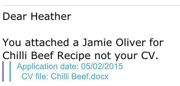 Email And Text Fails chilli beef